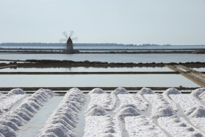 Trapani Salt Pans - the salt harvesting